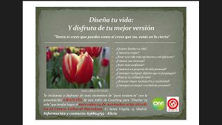 """Presentación del taller """"DISEÑA TU VIDA"""""""